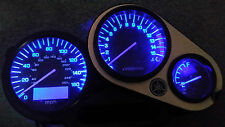 BLUE YAMAHA FZS 600 FAZER  led dash clock conversion kit lightenUPgrade