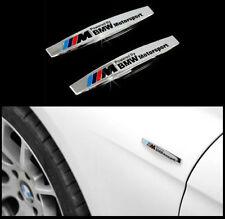2 Stücke für BMW M EMBLEM Poliert Schriftzug Emblem Logo Dekorativen Aufkleber