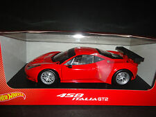 Hot Wheels Ferrari 458 Italia GT2 Presentation Version Red 1/18
