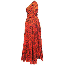 Vintage Orange shoulder strap dress sz 8 - 36 abendkleid YSL style