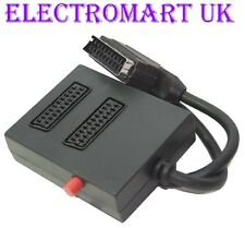 2 WAY SWITCHED SCART INPUT SELECTOR SWITCH SPLITTER BOX