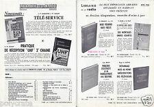 Publicité ancienne _Librairie de la Radio Ouvrage Télé-service Télévision 1964