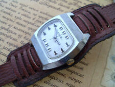 Raketa Mechanical Men's Watch RARE Vintage TV Dial Square Retro Style new strap