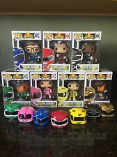 Funko Pop! Mighty Morphin Power Rangers *UNMASKED SET *Custom ONE OF A KIND!