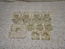 Lot #7: 10pc. Vintage Clear Glass &/or Crystal Lamp Replacement Parts Spacers