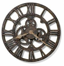 "625-275 HOWARD MILLER 21.5 "" GALLERY WALL CLOCK  IN RUSTED ANTIQUE FINISH"