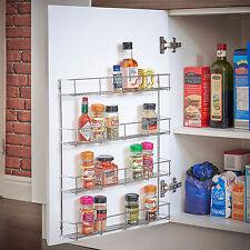 Tarro de rack de 4 pisos de salsa de especias/Botella De Almacenamiento Estante Para Armario De Cocina Puerta