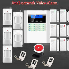 Quad 4-Bands 101 Zones Wireless GSM PSTN Home Security Alarm Burglar System