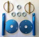 bonnet pin kit speedway racing drift drag,rally,141-203 ,blue,
