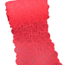 5 Yards 8-3/4 Inch Wide Red Stretch Lace Trims Elastic Fabric Dress Supply