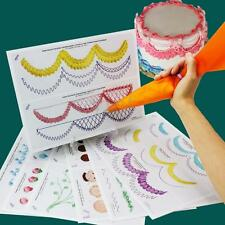 Cake Icing Piping DIY Practice Drawing Board Template Paste Fondant Decorating