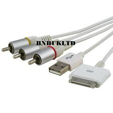 1.8 M LONG RCA Composite AV Video to TV USB  Cable for iPad 2 3 iPhone 4 4S 3GS