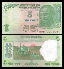 India 5 RUPEES 2009 Letter L P 94A UNC