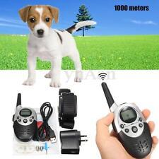 Elettrico Collare Antiabbaio Cani Addestramento Anti-Barking 1000M Ricaricabile