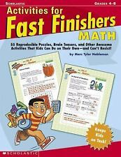 Activities For Fast Finishers: Math Tyler Nobleman, Marc Paperback