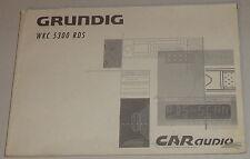 Manual de instrucciones Grunding autoradio WKC 5300 RDS