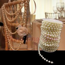 20m 8mm Plastic Faux Pearl Beaded Strands Garland Wedding Party Decoration Ivory