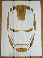 Iron Man Stencil Mask Reusable Mylar Sheet for Arts & Crafts, DIY