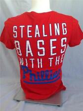 VICTORIAS SECRET MLB STEALING BASES WITH THE PHILLIES V NECK T SHIRT LARGE NEW