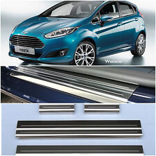 Ford Fiesta 2008  Silver Stainless Steel Kick Plate Door Sill Protectors - K89S