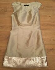 Stunning Coast Gold Coloured Sequinned Dress - Size 6