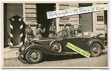 Foto : Generalstab-Militär-PKW Cabriolet Typ Horch mit General im 2.WK