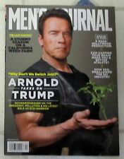 No Label MEN'S JOURNAL April 2017 ARNOLD Takes On TRUMP Switch Jobs MARS Mission