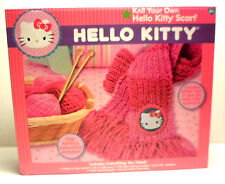 Hello Kitty Craft Kit Knit your Own Scarf Glitter Yarn  Applique & More (NEW)