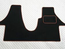 TO FIT A VW TRANSPORTER T5 2012 VAN, BLACK/ORANGE PIPING CUSTOM FIT 1PC MAT