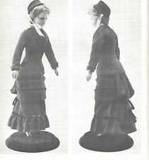 "18""ANTIQUE FRENCH FASHION LADY DOLL@1878 WALKING SUIT/UNDIES/BOOTS&SOCK PATTERN"
