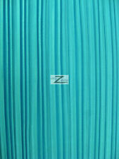 """SHINY PLEATED PLISSE SATIN FABRIC - Turquoise - 59"""" WIDTH SOLD BY THE YARD"""