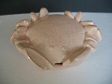 VIETRI CRAB Footed Bowl Dish with Lid  Italy  Glaze imperfection on lid
