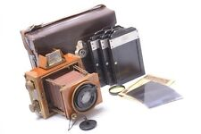 ERNEMANN TROPEN-KLAPP TROPICAL 6.5X9CM CAMERA W/ ERNON 12CM 3.5,ZEISS BACKS,CASE