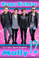 THE VAMPS Personalised Birthday Card 1 ANY NAME / AGE / RELATION A5 SIZE! GREAT!