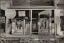 "Russell Lee 1938 Photo, Store Front, Beer advertisements, Tobacco, Coke, 20""x14"""