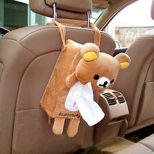 Cute Bear Car Seat Back Tissue Box Paper Napkin Cover Holder Case Soft Toy