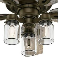 Ceiling Fans with Lights Bronze 52 inch Rustic Farmhouse Reversible Wood Blades