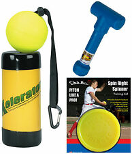 SPIN RIGHT SPINNER + WRIST SNAPPER Fastpitch Softball Pitching Training Aids ETC