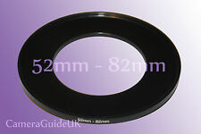 52mm to 82mm Male-Female Stepping Step Up Filter Ring Adapter 52mm-82mm UK