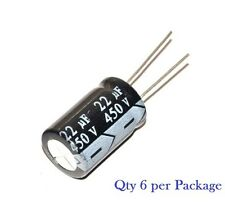 22uf / 22mfd - 450V - Electrolytic Capacitor - 6 pieces - RADIAL leads