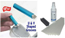 Golf Club Groove Sharpener + Grip Kit 8 Brampton Tape Strips-Solvent-Vise Clamp