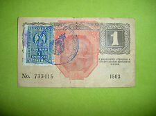 Austria - Hungary 1 Kronen 1916, Banknote with Stamp, Rare!!!