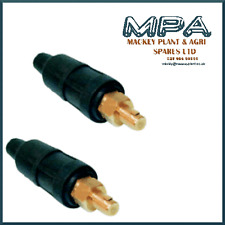 2 X WELDING CABLE PLUG - MALE DIN TYPE 35mm - 50mm