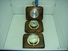 VINTAGE VEROCHRON THERMOMETER, BAROMETER & HYGROMETER WOODEN WEATHER STATION