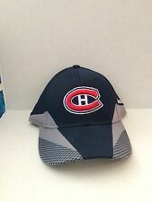 Montreal Canadiens Reebok 2013 Practice Stretch fit hat S/M Navy