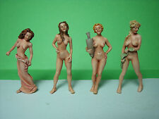4  FIGURINES  1/43   SET 103   MISS  EVE   VROOM  A  PEINDRE  UNPAINTED  FIGURE