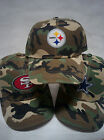 NFL Cotton Logos on Camo caps hats. Adjustable. 30 teams available. PICK YOURS!