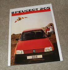 Peugeot 205 FOLLETO 1985 1.0 XE XL 1.1 GL XR 1.8 XLD GLD GRD 1.4 Gr XT GT T16