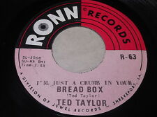 Ted Taylor: (I'm Just A Crumb In Your) Bread Box / Houston Town 45