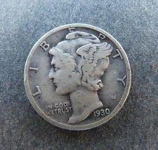 US Silver Mercury Dime 1930 P Philadelphia Coin Key Date  BX640